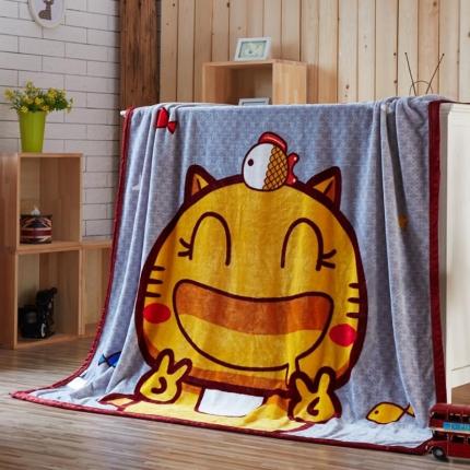 荣轩家纺 法莱绒加厚童毯盖毯毛毯珊瑚绒毯 哈咪喵喵