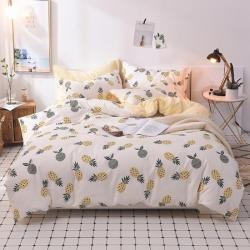 (总)优眠家居 爆款13370喷气简约小清新系列四件套床单款