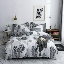 优眠家居 13370全棉喷气简约小清新系列四件套床单款羽叶