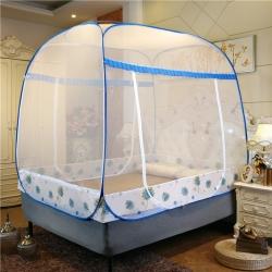 佳睡蚊帳 大頂加密免安裝蒙古包蚊帳 蒲公英藍