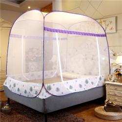 佳睡蚊帳 大頂加密免安裝蒙古包蚊帳 蒲公英紫