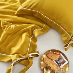 帅羽 爆款夏被60天丝夏被空调被大豆被 姜黄色