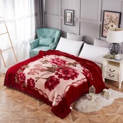 (总)沐灵家纺 拉舍尔毛毯