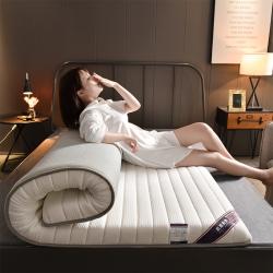 米樂床墊2019新款乳膠抗壓纖維透氣加厚宿舍榻榻米床墊 白色