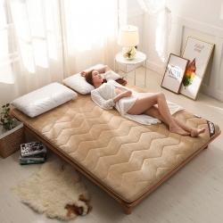 時奧家紡 法萊絨單邊床墊5厘米厚 駝
