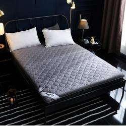 舒雅床垫 可折叠水洗棉防螨抗菌床垫 灰色