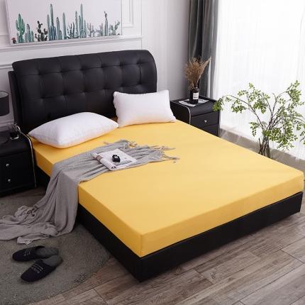 棕康垫业 2019新款全棉海绵床垫 素色-柠檬黄