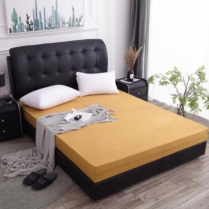 棕康垫业 2019新款全棉海绵床垫 素色-中黄