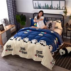 海雷毯业 2018全专版 全宽幅法莱绒毯毛毯 大熊猫