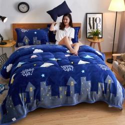 海雷毯业 2018全专版 全宽幅法莱绒毯毛毯 都市星空