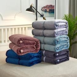 (总)海雷毯业 500克加厚珊瑚绒法莱绒米兰亲肤毛毯