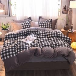 (总)知品家纺 新款棉加绒四件套床单款
