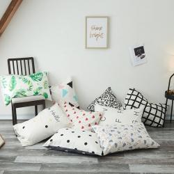 (总)寝柔家纺2018新款ins纯棉枕套pillow一对装