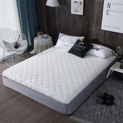 攸選 2019新款單邊針織棉床墊 白灰 厚度6cm