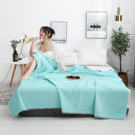格调 多功能凉感盖毯 水绿