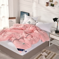 (总)百丝悠 法式浪漫流苏款素色水洗棉冬被子被芯