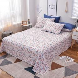 丽娜 2019新款13372全棉活性印染单品床单 晴空
