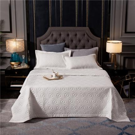 哈创家居 全棉床盖三件套组1 白色