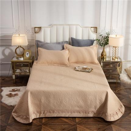 哈创家居 全棉床盖三件套组2 驼色