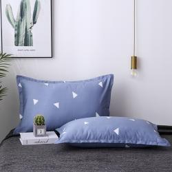 (總)喜萊曼 2019新款全棉枕套純棉斜紋棉枕套6元一只