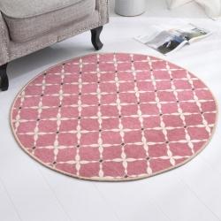 豪舒服 新款地墊地毯墊子雪尼爾地墊圓形地墊AA0776紅色