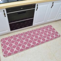 豪舒服 新款地墊地毯墊子雪尼爾地墊廚房墊AA0776紅色