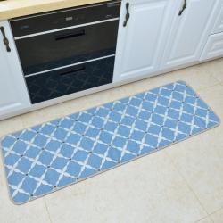 豪舒服 新款地墊地毯墊子雪尼爾地墊廚房墊AA0776藍色