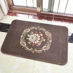 豪舒服 新款地墊地毯墊子雪尼爾地墊進門墊AA0665咖啡色