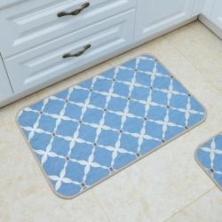 豪舒服 新款地墊地毯墊子雪尼爾地墊進門墊AA0776藍色