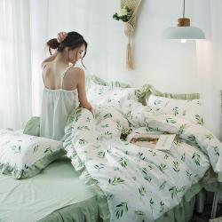 (总)万盛 2019新款床裙四件套全棉13372喷气面料