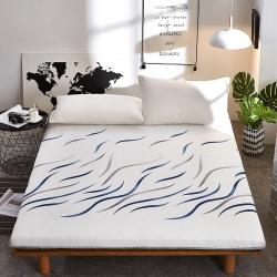 寐珂家纺 2018针织3D双面床垫10厘米蓝色海洋