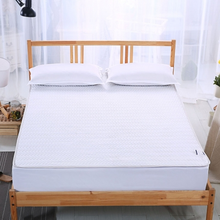 爱思凯 磨毛夹棉床笠  白色