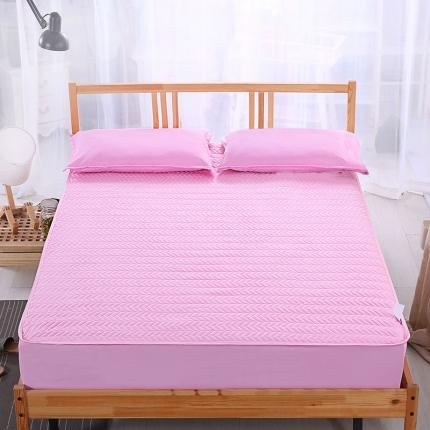 爱思凯 磨毛夹棉床笠  粉红色