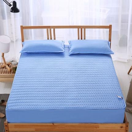 爱思凯 磨毛夹棉床笠  蓝色