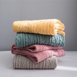 (总)KH家纺  2019新款针织毯子线毯罗琦毛毯