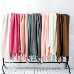 (总)KH家纺 2019新款海的女儿针织毯子线毯沙发盖毯