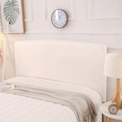 纤品绘 2018新款素色床头罩 本白色