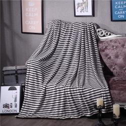 清仓  AB版雪貂绒双层压边毛毯