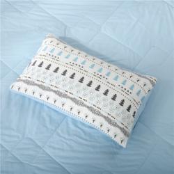 库存 小清新水洗棉枕套48*74厘米  一对装