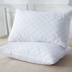库存  酒店绗缝立体羽丝绒枕头枕芯