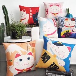 (总)赠品家纺坐垫抱枕靠垫绒布单壳子数码印花一抱而红猪年抱枕