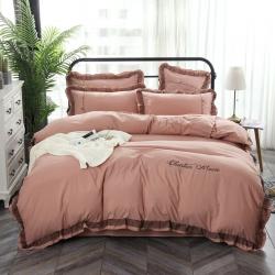 (总)雅居尚品 2019新款韩版蕾丝水洗棉磨毛四件套 床单款