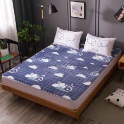 温语家纺 2018新款法莱绒保暖床垫床褥床护垫 云朵