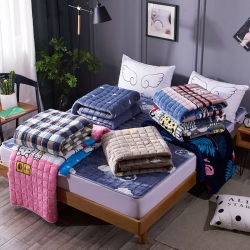 (总)温语家纺 2018新款法莱绒床垫保暖床垫床褥床护垫