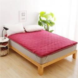 天艺床垫 珊瑚绒竹炭加厚款床垫