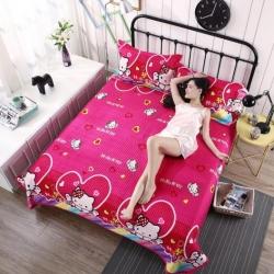 安心月 2018新款安心月多功能行缝床盖三件套 KT猫-玫红