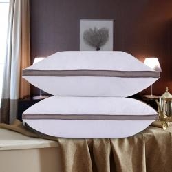 明丹娇 酒店立体边绗缝羽丝绒枕头枕芯护颈枕可水洗枕芯