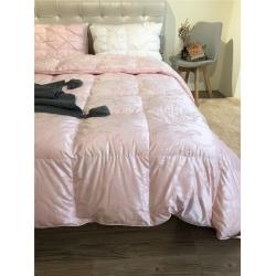 coco house羽绒馆 色织大提花鹅绒被 粉色