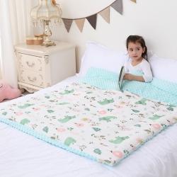 心卓婴童馆 婴幼儿棉纱豆豆被/毯双层纱被子儿童被毯子 花儿熊