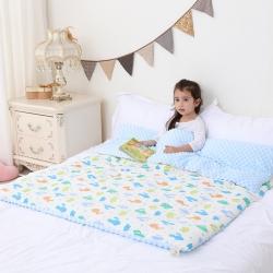 心卓婴童馆 婴幼儿棉纱豆豆被/毯双层纱被子儿童被毯子 仙人掌